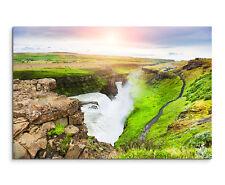 Wandbild Naturfotografie Gullfoss Wasserfall in Island auf Leinwand
