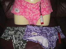Ladies cotton floral pattern boxers, S M L XL, Pink, Black, Lilac