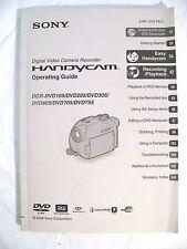 Genuine Sony Camcorder Video Camera User Manual