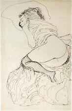 Gustav Klimt Drawings: Two Nude Studies -  2 Fine Art Prints