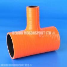 Silicone Hose T Piece Orange SELECT SIZE Demon Motorsport (Black Core)