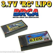 3.7V 4800mAh - 6700mAh 1s LiPo Hard Case RC Car Battery up to 65C BRCA