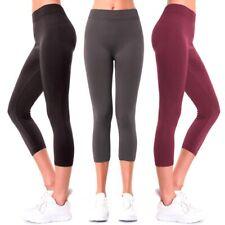 Women Seamless Plus One Size Footless Stretchy Yoga Pants Capri Leggings Jegging