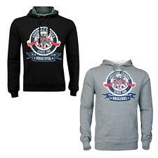Lonsdale CHADWICK Union Jack Target Hooded Sweatshirt Hoodie Black Grey XS-XXL
