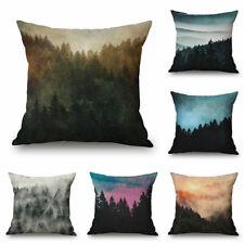 18inch Cotton Linen Sofa Bed Decor Waist Cushion Pillow Case Cover Landscape