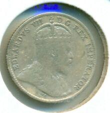 1910 ML CANADA SILVER FIVE CENTS, FINE-VERY FINE, GREAT PRICE!