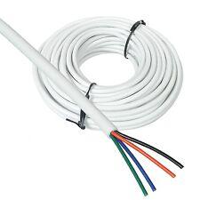 (1,69€/m) 10m RGB Led Kabel / Litze WEIß ummantelt, 4-adrig für RGB Strips & Co