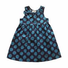 AZUL para niña de Topos Verano Vestido de fiesta de 18 meses a 6 años