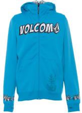 VOLCOM Sasquater Full Zip Hydrofleece/Zip Hoody repellent Kids blau/cyan NEU