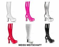Plateaustiefel Stiefel Größe 36-43 Damen 70 er Jahre Plateau Party Fasching Neu