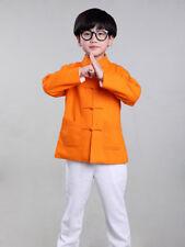100% Fait Main Veste Col Mao Chinoise Vêtement Kung Fu Tai Chi Mode Enfant #105