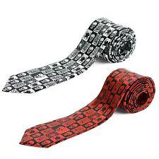 Cravate homme Premium à carreaux avec araignées et têtes de mort