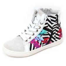 D0656 sneaker bimba CULT BOWIE MID scarpa bianco shoe kid girl