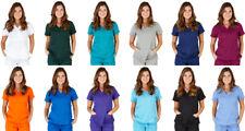 Ultra Soft Medical Nurse Uniform Premium Womens Junior Fit Mock Wrap Scrub Top