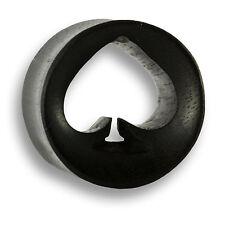 6mm - 22mm Holz Wood PiK As Ace OF Spades Flesh Tunnel Ear Plug Ohr Piercing 337