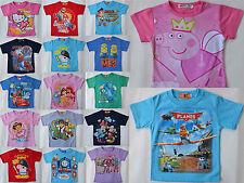 Boys & Girls Pep Planes Cars Dora Summer T-Shirts size 1,2,3,4,5,6,8,10,12