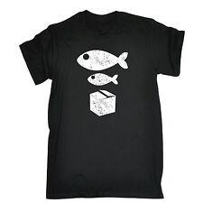 Big Fish Little Fish Cardboard Box T-SHIRT Joke Party Dance Gift fathers day