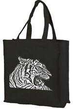 TIGER Cotone Shopping Bag, scelta di colori: Nero, Crema