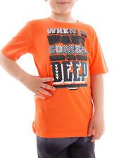 Brunotti T-Shirt d'été à motif imprimé Adams orange élastique