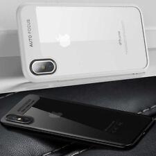 iPhone X Hülle Case Silikon Schutz Hülle Cover Schale Schwarz & Weiß +Panzerglas