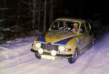 1976 SAAB 96 With Per Eklund & Bjorn Cederberg - Swedish Rally - Photo Poster