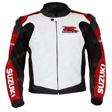 SUZUKI GSXR Chaqueta de motorista de deportes Chaqueta de cuero de Motocicleta