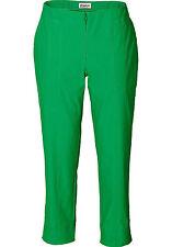 Sheego Donna Pantaloni stretch 7/8 Jeans Elasticizzati Elastico chinos verde