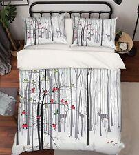 3D Forest Red Birds 236 Bed Pillowcases Quilt Duvet Single Queen King US Summer
