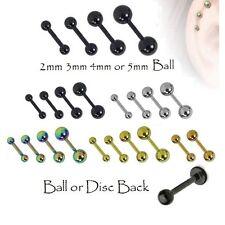 Cartilage Upper Ear Stud - Tragus Bar Helix Top Ear Piercing - Ball Earring