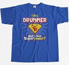 Yo soy un baterista -? cuál es su superpotencia? Hombre Camiseta