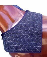 Quilted Satin  BIB / Horse Rug Shoulder Guard, Mini Pony Cob & Full Blue