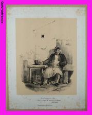 """planche lithographie """"ne bois pas un litre"""" par CHARLET"""