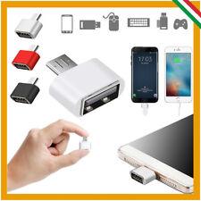ADATTATORE OTG DA MICRO USB MASCHIO A USB 2.0 FEMMINA PER SMARTPHONE TABLET MINI