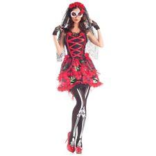 Sugar Skull Costume Adult Dia de los Muertos Day of The Dead Senorita Halloween
