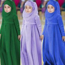 Musulmani Bambini//Ragazze né Hijab Burqa 2PCS Set Nero UK Venditore GRATIS