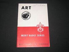 Art Merit Badge Pamphlet, red & white cover, 8/47