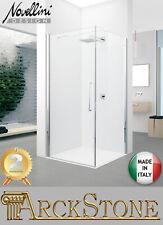 ARCKSTONE Box a Battente Fissa Trasparente Silver Novellini Young 2.0 G+F 57-79