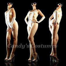 WHITE Bandage DEEP Halter MONOKINI Skimpy MODEL Swimwear SEXY Teddy 6 8 10 xxx