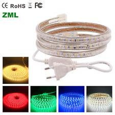 LED Strip lights 1M-10M 220V 5050 60leds/m Flexible tape rope Light Waterproof
