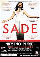 0599 Vintage Music Poster Art - Sade In Concert
