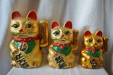 Ceramic Chinese Waving Hand Lucky Money Cat feng shui china wealth fortune neko