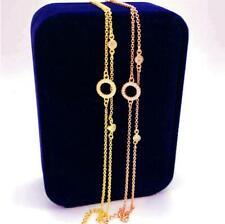 Rose Gold Cubic Zirconia Titanium Ring Pendant Double Chain Chaim Cuff Bracelet