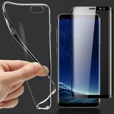 Schutz Hülle + 3D Panzer Glas Folie für Samsung Galaxy Handy Tasche Case Cover