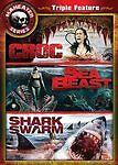 CROC (Michael Madsen) / SEA BEAST / SHARK SWARM (Daryl Hannah) DVD [V38]