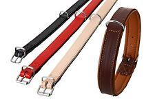 Karlie Rondo Halsband,  strapazierfähiges Leder,braun - unterlegt L: 37cm - 52cm