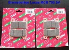 2 x Lucas MCB755SV Bremsbeläge Honda CBR 1000 RR, SC57, SC59, Fireblade, MCB 755