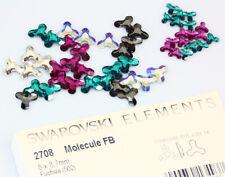 Original SWAROVSKI 2708 Molécule Fond Plat Cristaux * Tous Couleurs & Tailles