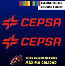 2 X PEGATINAS -STICKER- VINILO - PACK - CEPSA - Moto Sponsor - AUFKLEBER - VINYL