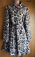 NewWT Karen Millen brown 60s leopard print cotton coat jacket UK 10 12 14 16