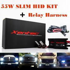 55W 55Watt Xentec Super Slim Xenon HID KIT Conversion + Relay Harness H4 H13 880